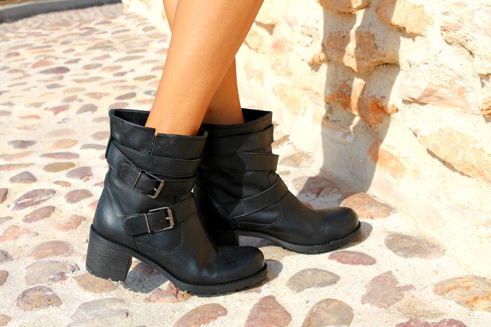 botas motero mujer