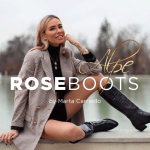 Marta Carriedo, con Alpe Woman Shoes , Alpe Rose Coco Black Boot