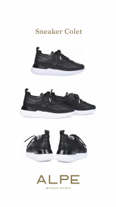 Sneaker colet Alpe cómodo piel